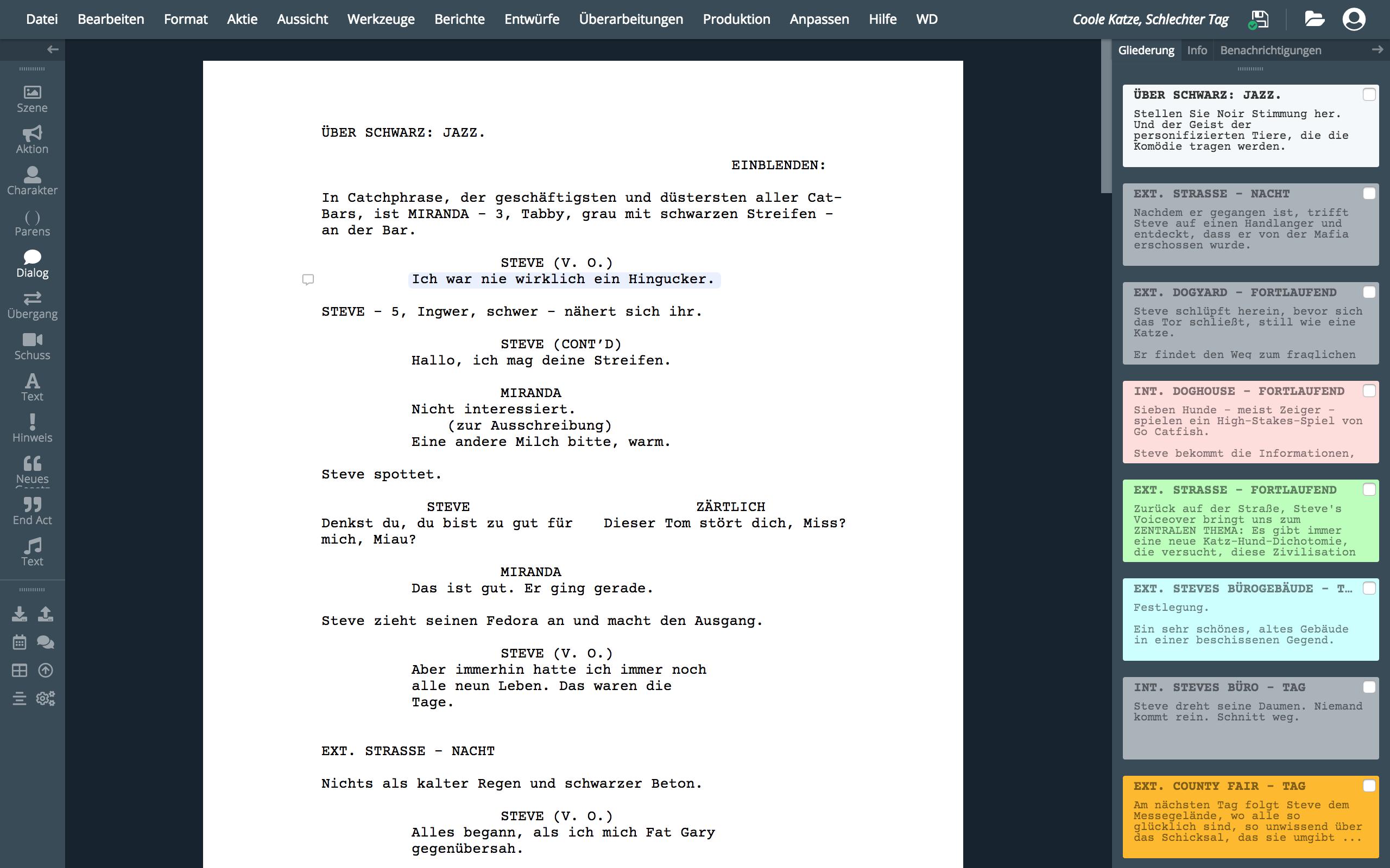 WriterDuet | Professionelle Drehbuchsoftware