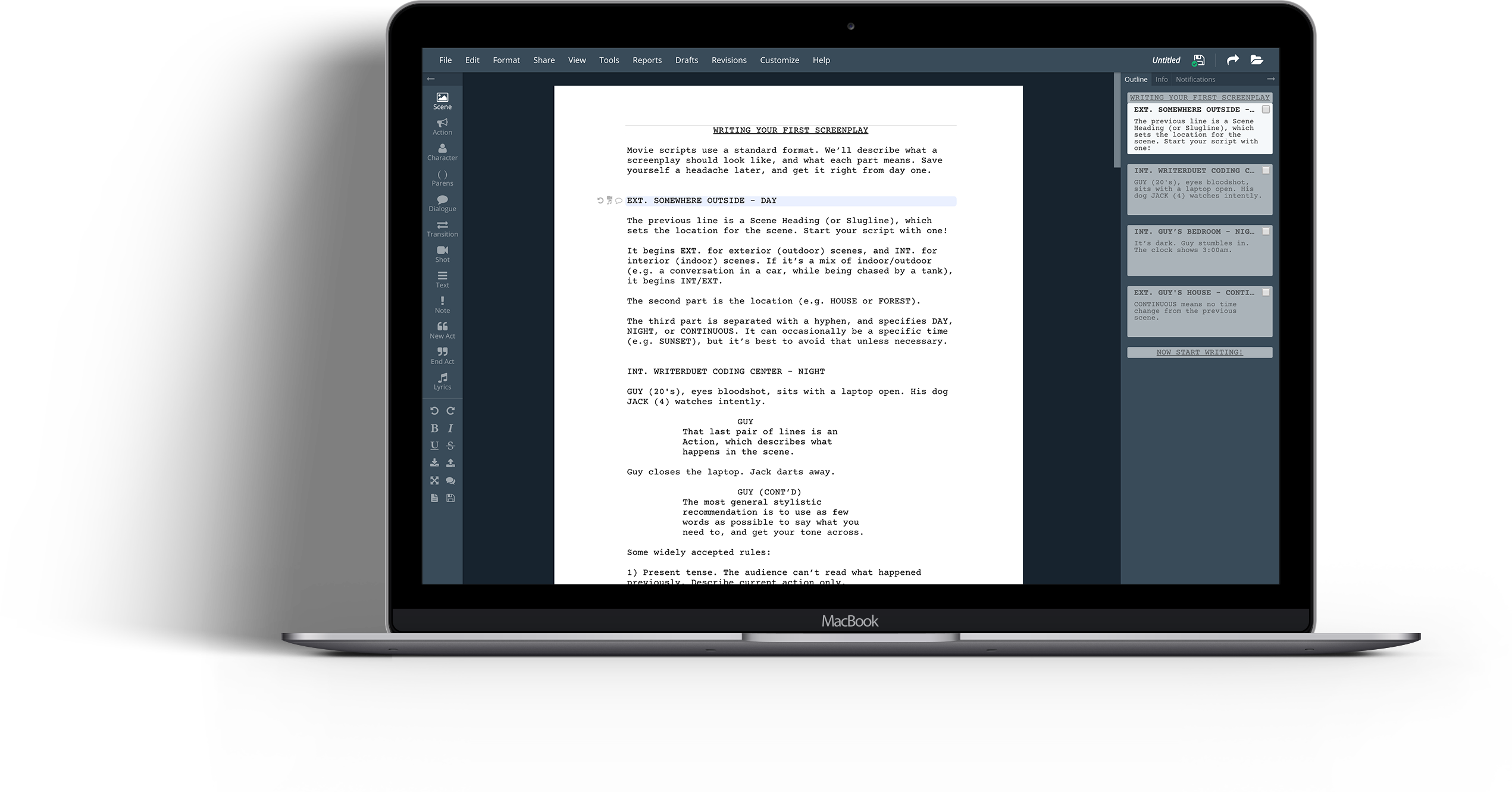 writerduet professional screenwriting software you ll love